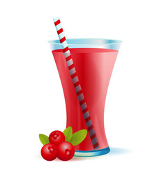 healthy cranberry smoothie drink vector image