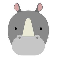 Isolated cute rhino avatar vector