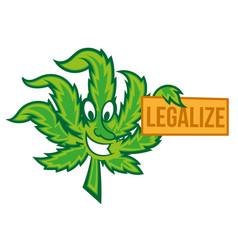 legalize marijuana vector image