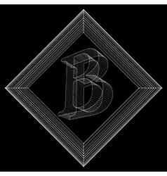 letter B Fonts of Mesh vector image