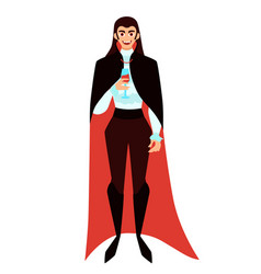 male vampire with a glass vector image