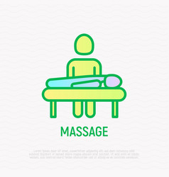 Massage thin line icon modern vector