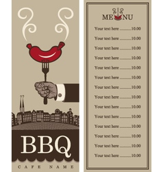 Menu for barbecue vector