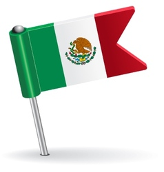 Mexico pin icon flag vector