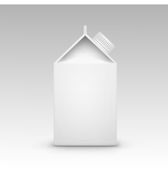 Milk Juice Carton Packaging Package Box White vector image