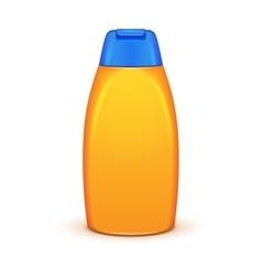Oil Shower Gel Bottle Of Shampoo Yellow vector