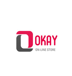 Okay icon letter o for online store vector