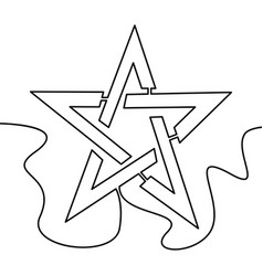 one continuous line star icon concept vector image