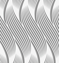 Perforated paper with wavy striped shapes vector image