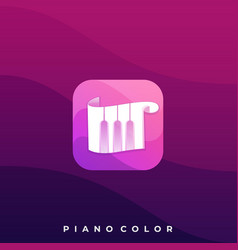 Piano scale icon application template vector