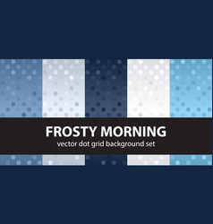 Polka dot pattern set frosty morning seamless vector