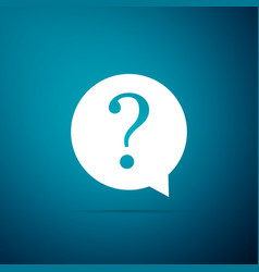 question mark in circle icon on blue background vector image