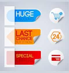 sale and retail labels set vector image