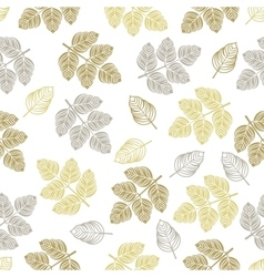 Seamless pattern with colored leaves vector