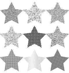 Set Grunge Star vector image