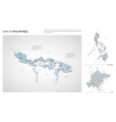 Set philippines country isometric 3d map vector