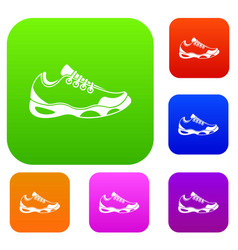 sneakers for tennis set collection vector image