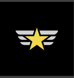 star wings logo vector image