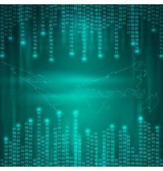 Stream binary code to world map vector