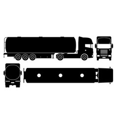 tanker truck black icons vector image