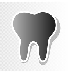Tooth sign new year blackish vector