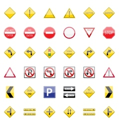 Traffic Signs Collection vector image