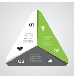 triangle infographic Template for diagram graph vector image