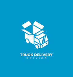 truck delivery logo vector image