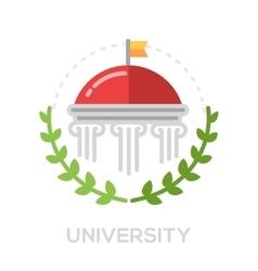 University - single flat design icon vector