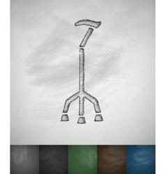 Walking stick icon vector