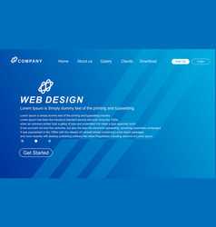 Web page design abstrack vector