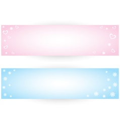 Winter banner vector image