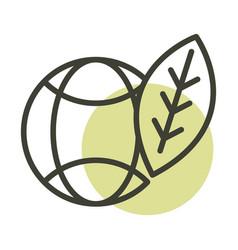 World leaf alternative sustainable energy line vector