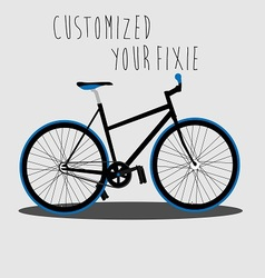 Customized your fixie 2 vector