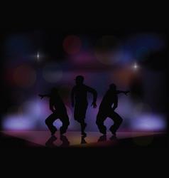 dancing in a nightclub vector image