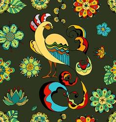 Pattern peacocks vector image