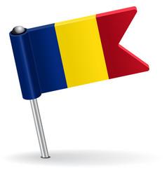 Romanian pin icon flag vector image vector image
