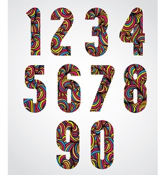 Trendy bold numbers design decorated with vector