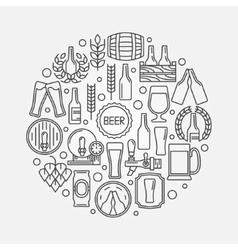 Beer round logo vector image vector image