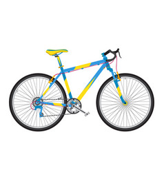 detailed sport bicycle in trendy flat style vector image