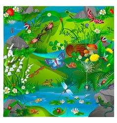 forest insects vector image