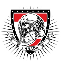 Ice Hockey Helmet Shield of Canada vector image