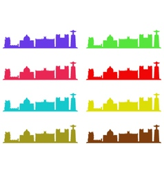 lisbon skyline vector image vector image