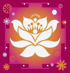 lotus yantra vector image