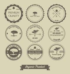 Premium quality organic product vintage label vector image