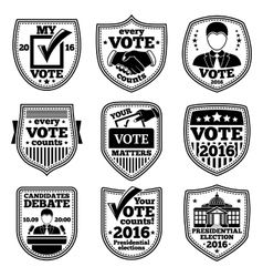 set of vote labels For presidential vector image