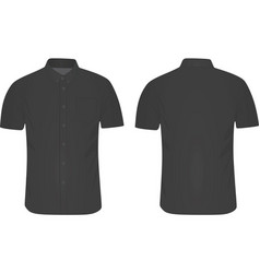 short sleeve shirt vector image vector image