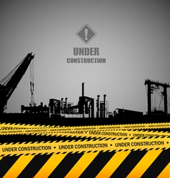Under construction industrial template design vector image vector image