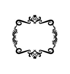 Decorative frame floral romantic border cute image vector