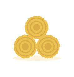 dried haystack icon vector image vector image